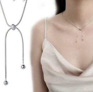 Jewelry - NEW 925 SILVER PLATED BEAD ADJUSTABLE NECKLACE